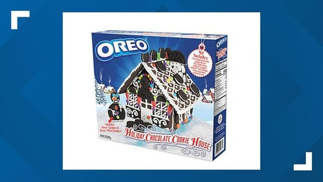Oreo presents the Holiday Chocolate Cookie House kit