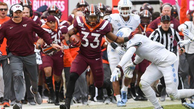 Virginia Tech beats North Carolina 43-41 in multiple overtimes at Lane Stadium
