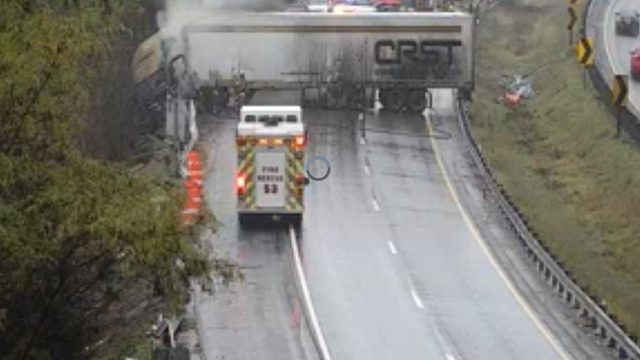 A second tractor-trailer crash causes delays on I-81 North in Botetourt County