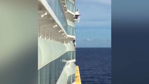 Woman who stood on ship's railing for selfie barred for life from cruise line