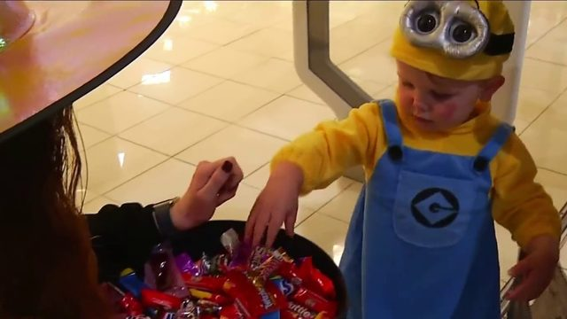 Malls provide rain-free trick-or-treating experience amid storms
