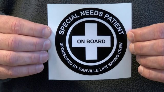 Danville Life Saving Crew offering 'special needs' stickers
