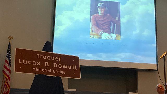 Bridge dedicated in honor of fallen Virginia State Police trooper