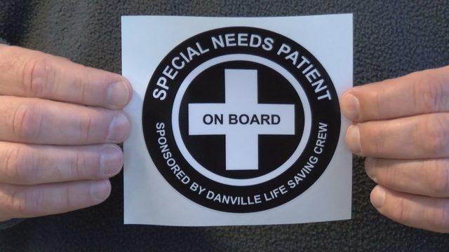 Danville Life Saving Crew offering 'special needs' stickers