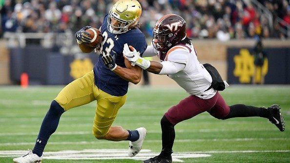 Notre Dame beats Virginia Tech in a close 21-20 game
