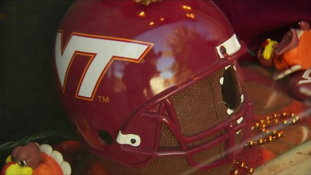 Virginia Tech football fans cheer from home as Hokies take on Notre Dame…