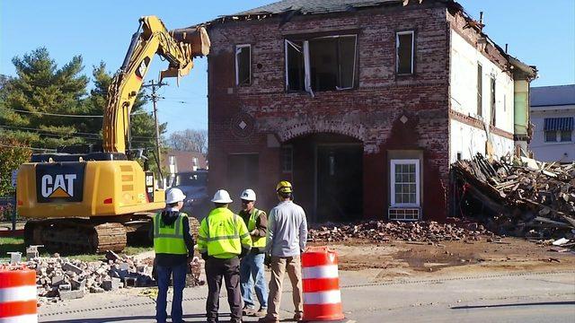 Demolition begins on Roanoke's historic Fire Station 7