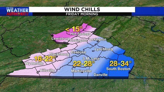 Wind, cold combine Friday morning; another Arctic blast next week